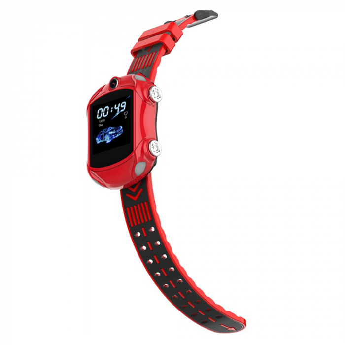 Ceas Smartwatch Pentru Copii, Wonlex KT14, Supercar, Rosu, SIM card, 4G, Rezistent la stropi accidentali IP54, Apel video [2]