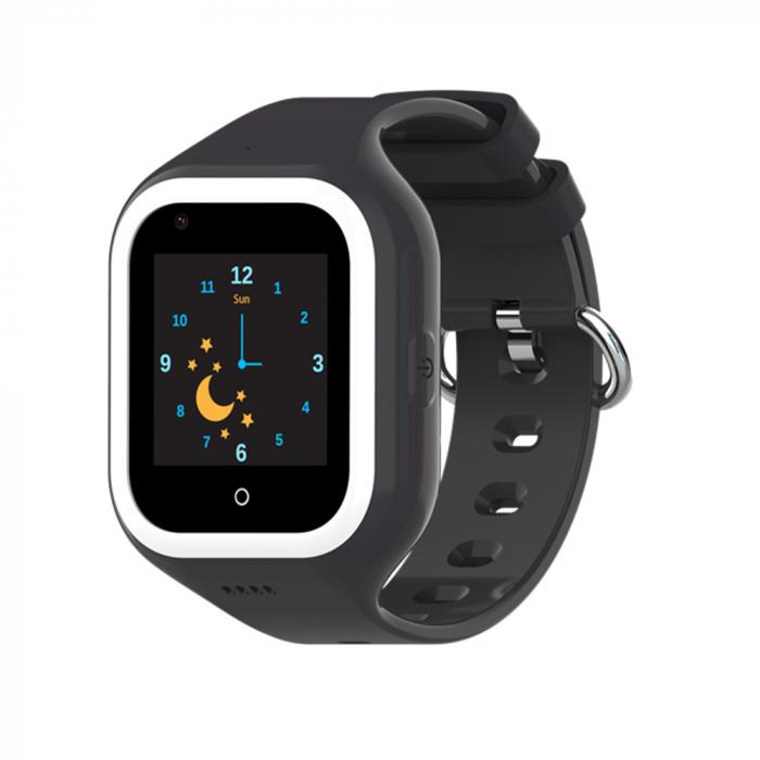 Ceas Smartwatch Pentru Copii, Wonlex KT21, Negru, SIM card, 4G, Rezistent la apa IP54, Apel video [2]