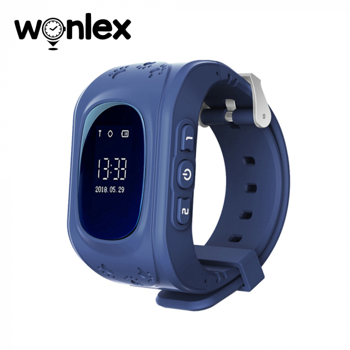 Ceas Smartwatch Pentru Copii Wonlex Q50 cu Functie Telefon, Localizare GPS, Pedometru, SOS ; Albastru, Cartela SIM Cadou [0]