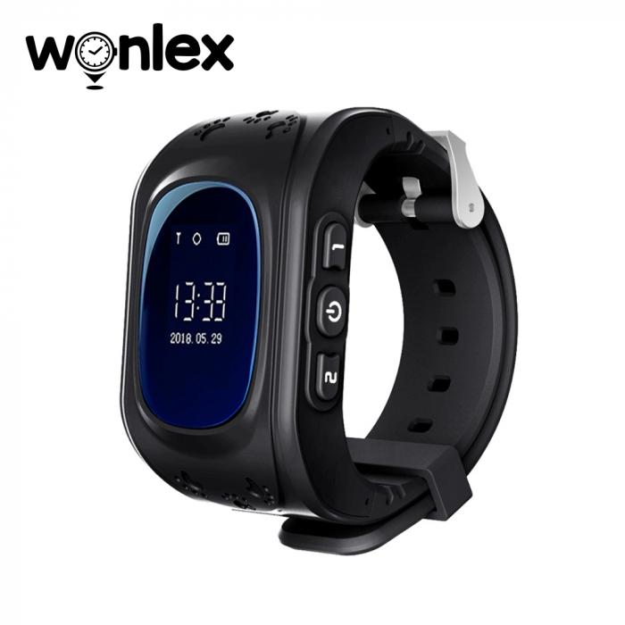 Ceas Smartwatch Pentru Copii Wonlex Q50 cu Functie Telefon, Localizare GPS, Pedometru, SOS ; Negru, Cartela SIM Cadou [0]