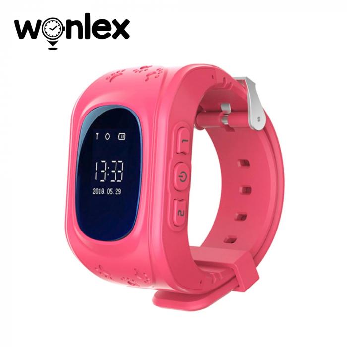 Ceas Smartwatch Pentru Copii Wonlex Q50 cu Functie Telefon, Localizare GPS, Pedometru, SOS ; Roz, Cartela SIM Cadou [0]