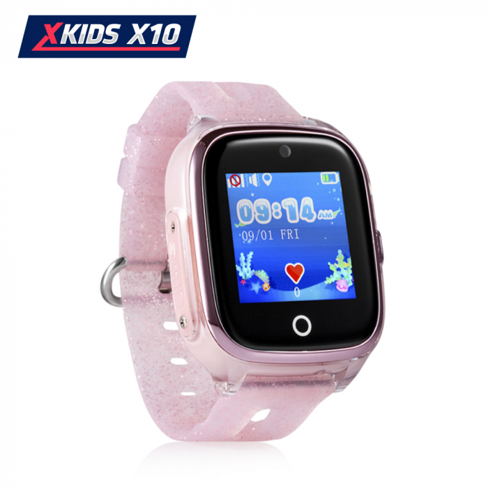 Ceas Smartwatch Pentru Copii Xkids X10 cu Functie Telefon, Localizare GPS, Apel monitorizare, Camera, Pedometru, SOS, IP54, Roz Pal, Cartela SIM Cadou, Meniu romana [1]