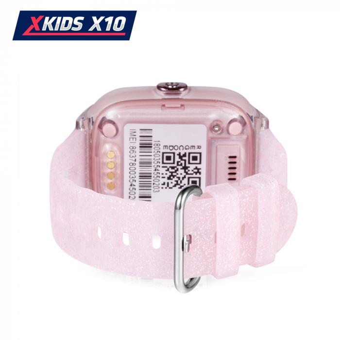 Ceas Smartwatch Pentru Copii Xkids X10 cu Functie Telefon, Localizare GPS, Apel monitorizare, Camera, Pedometru, SOS, IP54, Roz Pal, Cartela SIM Cadou, Meniu romana [3]