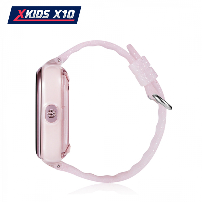 Ceas Smartwatch Pentru Copii Xkids X10 cu Functie Telefon, Localizare GPS, Apel monitorizare, Camera, Pedometru, SOS, IP54, Roz Pal, Cartela SIM Cadou, Meniu engleza [2]