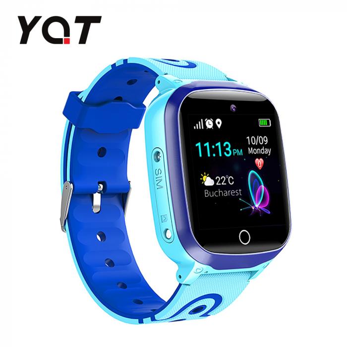 Ceas Smartwatch Pentru Copii YQT Q13 cu Functie Telefon, Localizare GPS, Istoric traseu, Apel de Monitorizare, Camera, SOS, Joc Matematic, Albastru, Cartela SIM Cadou [1]