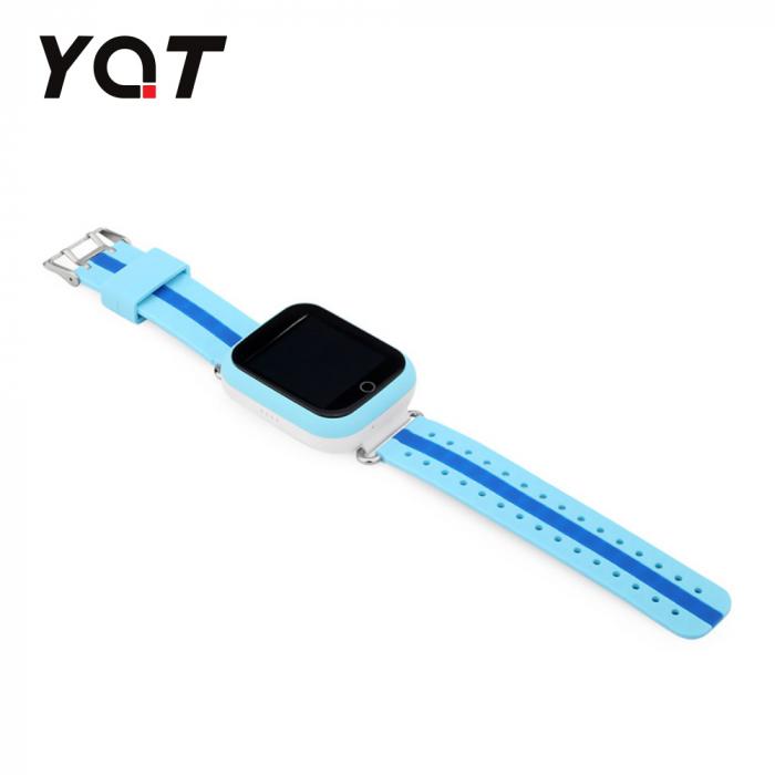 Ceas Smartwatch Pentru Copii YQT Q750 cu Functie Telefon, Localizare GPS, Apel de Monitorizare, Pedometru, SOS, Albastru [4]