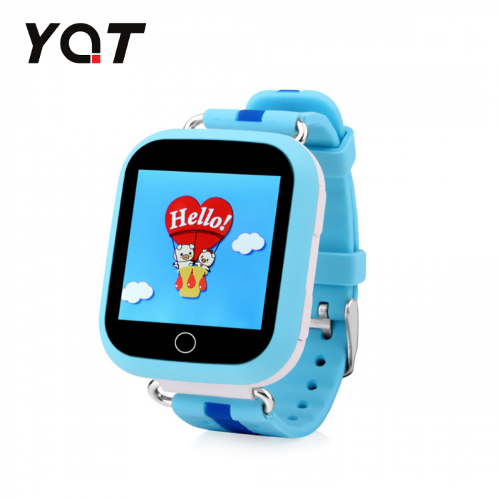 Ceas Smartwatch Pentru Copii YQT Q750 cu Functie Telefon, Localizare GPS, Apel de Monitorizare, Pedometru, SOS, Albastru [0]