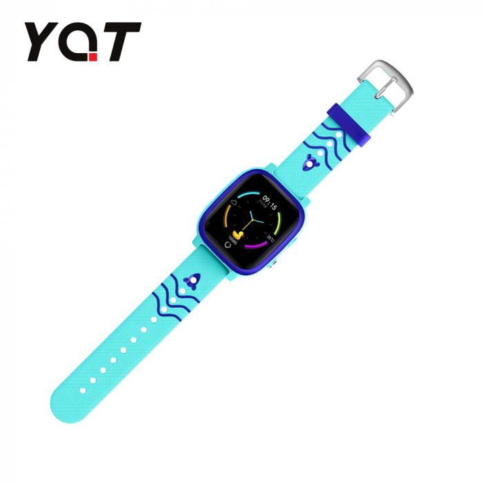 Ceas Smartwatch Pentru Copii YQT T5 cu Functie Telefon, Apel video, Localizare GPS, Istoric traseu, Apel de Monitorizare, Camera, Lanterna, Android, 4G, Albastru, Cartela SIM Cadou [4]