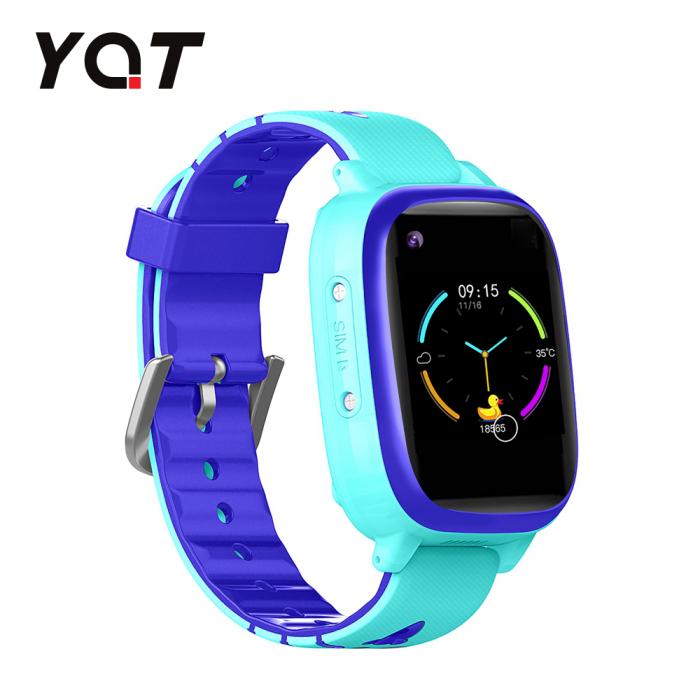 Ceas Smartwatch Pentru Copii YQT T5 cu Functie Telefon, Apel video, Localizare GPS, Istoric traseu, Apel de Monitorizare, Camera, Lanterna, Android, 4G, Albastru, Cartela SIM Cadou [0]