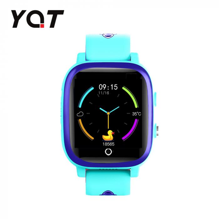 Ceas Smartwatch Pentru Copii YQT T5 cu Functie Telefon, Apel video, Localizare GPS, Istoric traseu, Apel de Monitorizare, Camera, Lanterna, Android, 4G, Albastru, Cartela SIM Cadou [1]