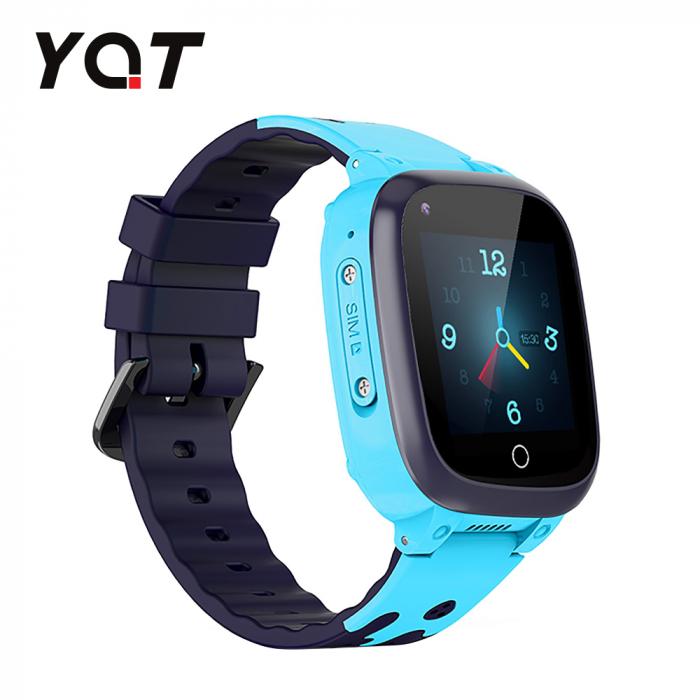 Ceas Smartwatch Pentru Copii YQT T8 cu Functie Telefon, Apel video, Localizare GPS, Istoric traseu, Pedometru, Apel de Monitorizare, Camera, Android, 4G, Albastru, Cartela SIM Cadou [2]