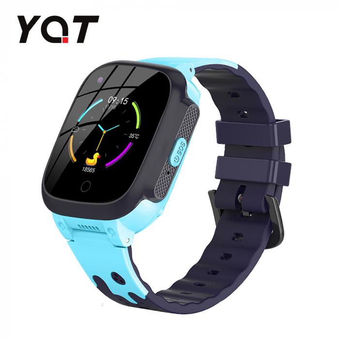 Ceas Smartwatch Pentru Copii YQT T8 cu Functie Telefon, Apel video, Localizare GPS, Istoric traseu, Pedometru, Apel de Monitorizare, Camera, Android, 4G, Albastru, Cartela SIM Cadou [0]