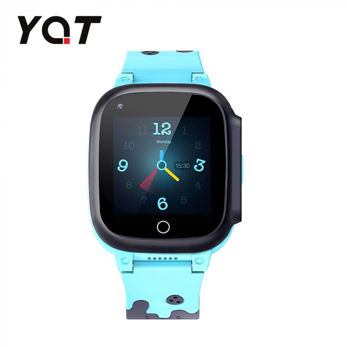 Ceas Smartwatch Pentru Copii YQT T8 cu Functie Telefon, Apel video, Localizare GPS, Istoric traseu, Pedometru, Apel de Monitorizare, Camera, Android, 4G, Albastru, Cartela SIM Cadou [1]