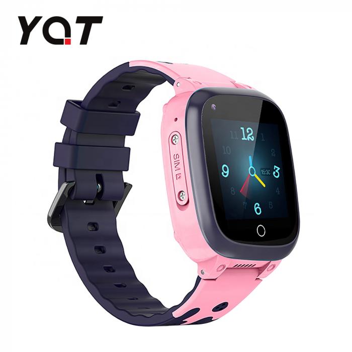 Ceas Smartwatch Pentru Copii YQT T8 cu Functie Telefon, Apel video, Localizare GPS, Istoric traseu, Pedometru, Apel de Monitorizare, Camera, Android, 4G, Roz, Cartela SIM Cadou [2]