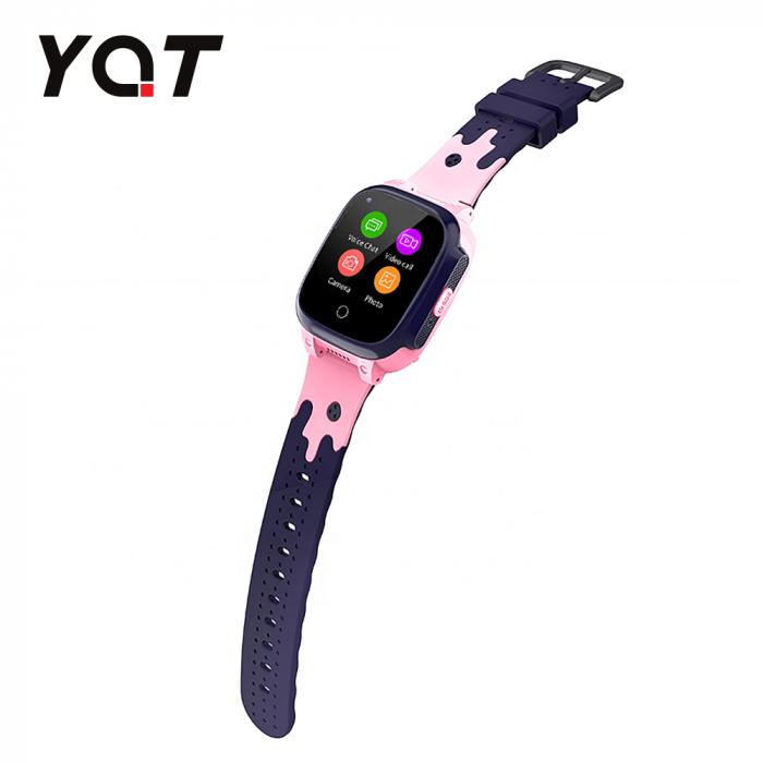 Ceas Smartwatch Pentru Copii YQT T8 cu Functie Telefon, Apel video, Localizare GPS, Istoric traseu, Pedometru, Apel de Monitorizare, Camera, Android, 4G, Roz, Cartela SIM Cadou [3]