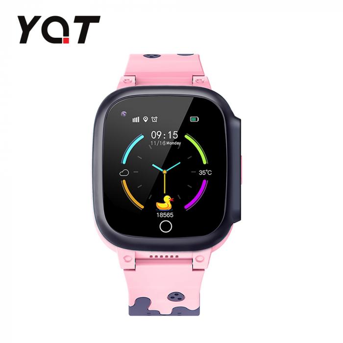 Ceas Smartwatch Pentru Copii YQT T8 cu Functie Telefon, Apel video, Localizare GPS, Istoric traseu, Pedometru, Apel de Monitorizare, Camera, Android, 4G, Roz, Cartela SIM Cadou [1]