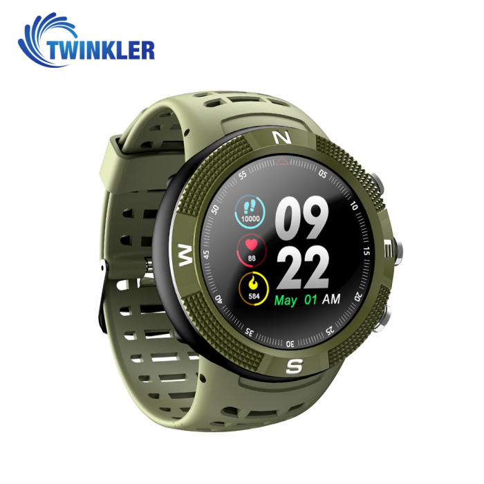 Ceas Smartwatch Twinkler TKY-F18 cu functie de monitorizare ritm cardiac, Nivel calitate somn, GPS, Busola, Incarcare magnetica, Verde [2]