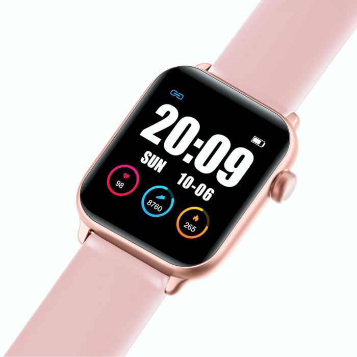 Ceas Smartwatch Twinkler TKY H30 KW37, Roz, Memento sedentar, Termometru, Monitorizarea somnului [2]