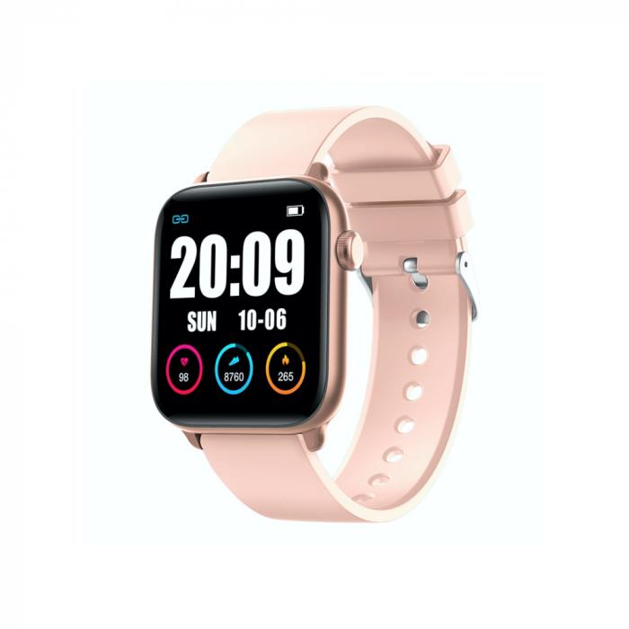 Ceas Smartwatch Twinkler TKY H30 KW37, Roz, Memento sedentar, Termometru, Monitorizarea somnului [0]