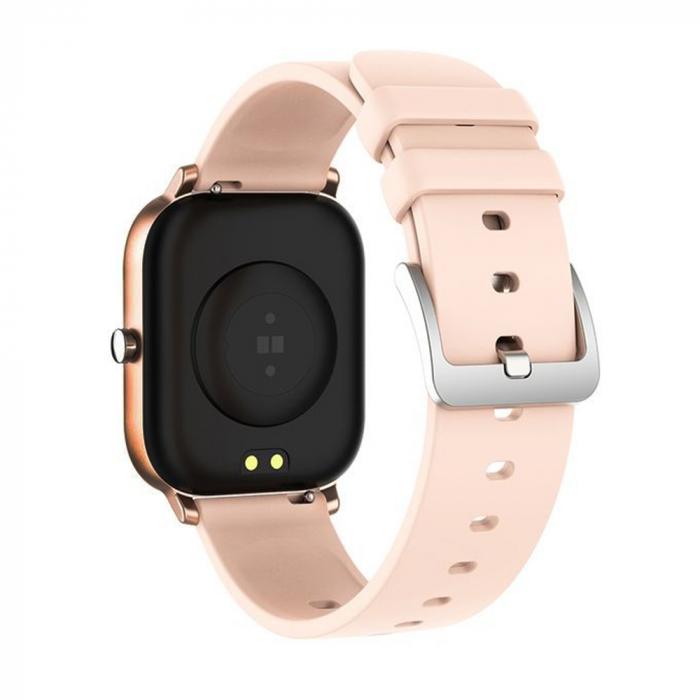 Ceas Smartwatch Twinkler TKY-P8, Auriu, Masurare ritm cardiac, Pedometru, Moduri sportive, Memento sedentar [2]