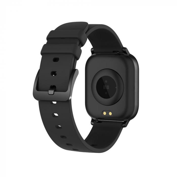 Ceas Smartwatch Twinkler TKY-P8, Negru, Masurare ritm cardiac, Pedometru, Moduri sportive, Memento sedentar [2]