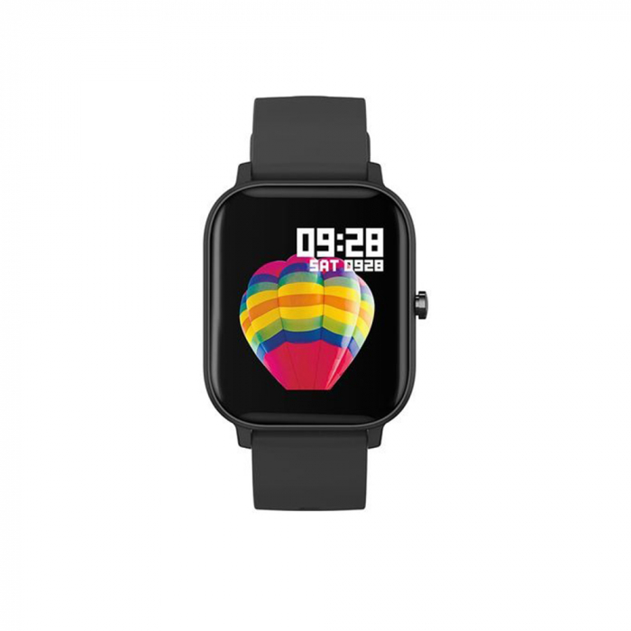 Ceas Smartwatch Twinkler TKY-P8, Negru, Masurare ritm cardiac, Pedometru, Moduri sportive, Memento sedentar [4]