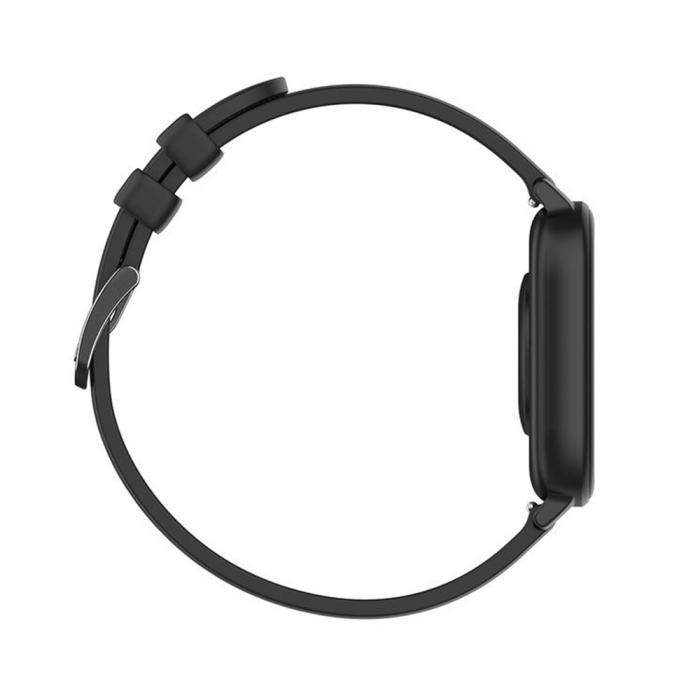 Ceas Smartwatch Twinkler TKY-P8, Negru, Masurare ritm cardiac, Pedometru, Moduri sportive, Memento sedentar [3]