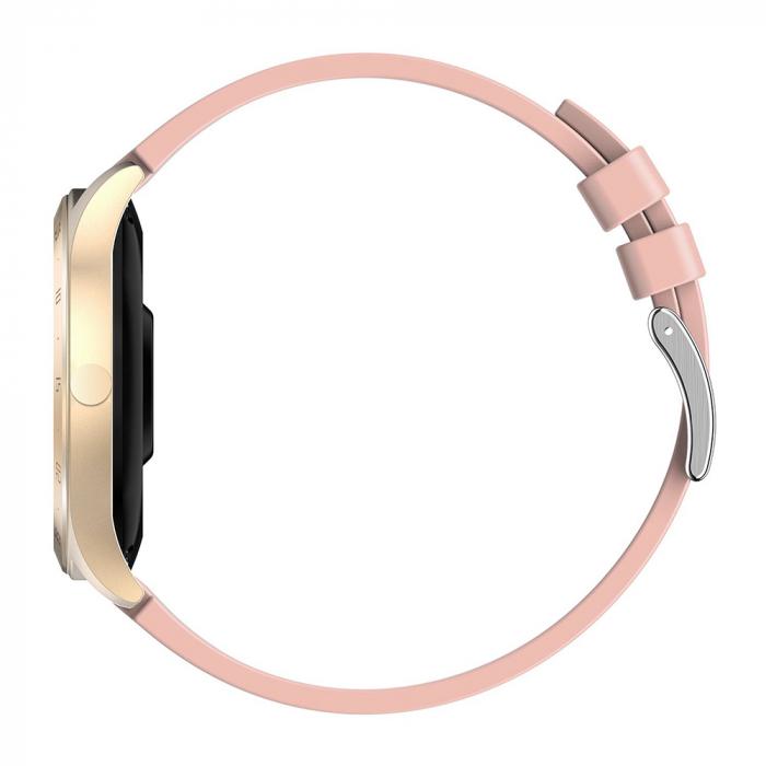 Ceas smartwatch Twinkler TKY-S20, Roz, Notificari, Pedometru, Moduri sportive, Cronometru [3]