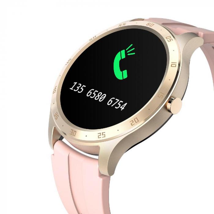 Ceas smartwatch Twinkler TKY-S20, Roz, Notificari, Pedometru, Moduri sportive, Cronometru [2]