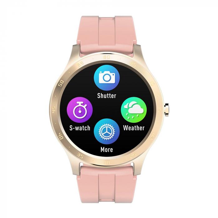 Ceas smartwatch Twinkler TKY-S20, Roz, Notificari, Pedometru, Moduri sportive, Cronometru [1]