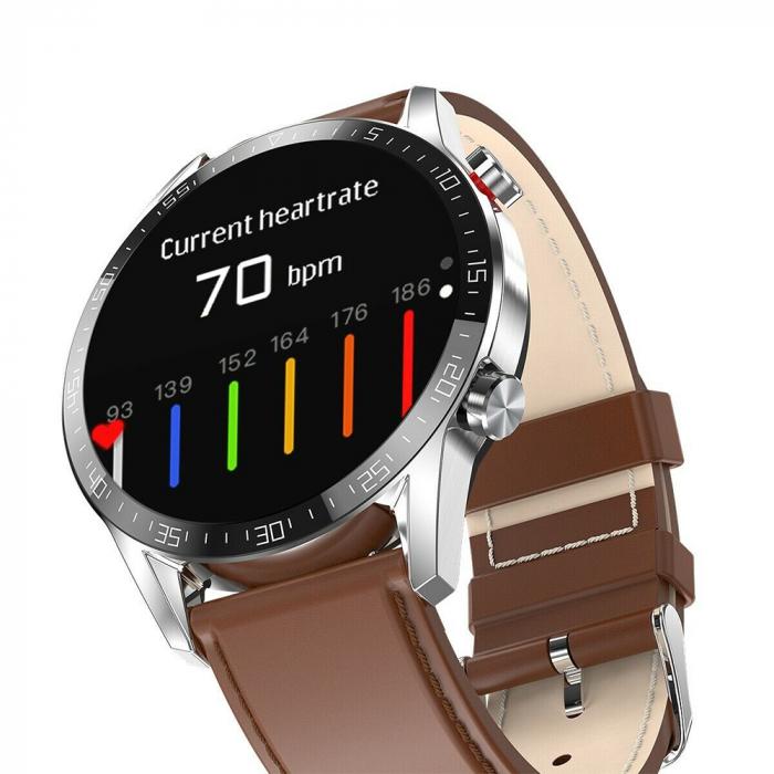 Ceas smartwatch, Twinkler TKY-SW03, Maro, Functie masurarea ritmului cardiac, Rezistenta IP54, Bluetooth [2]