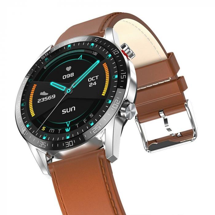 Ceas smartwatch, Twinkler TKY-SW03, Maro, Functie masurarea ritmului cardiac, Rezistenta IP54, Bluetooth [3]