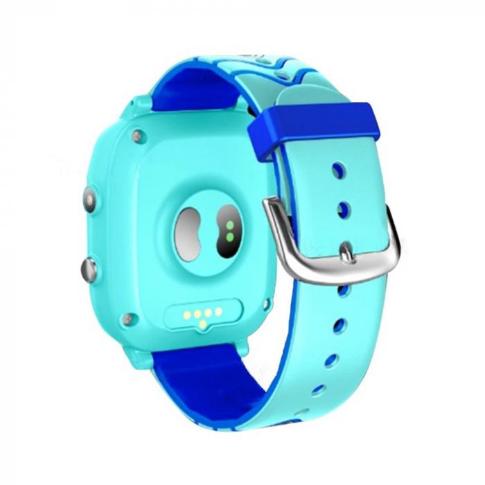 Ceas smartwatch YQT T5S, 4G, Albastru, Masurarea temperaturii, Pedometru, Verificare istoric, Alarma, Lanterna [2]