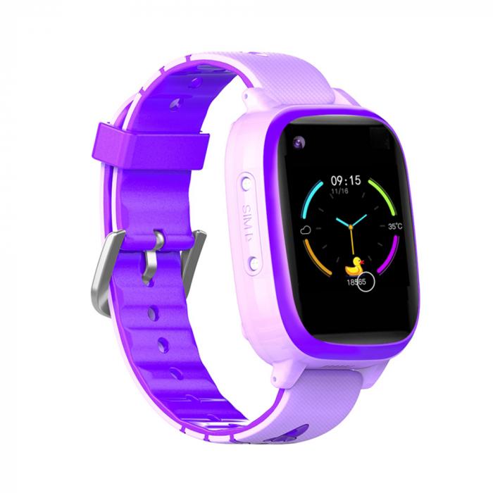 Ceas smartwatch YQT T5S, 4G, Mov, Masurarea temperaturii, Pedometru, Verificare istoric, Alarma, Lanterna [0]