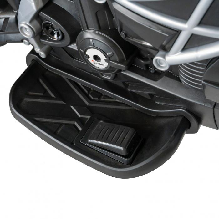 Motocicleta electrica copii Rich Baby cu acumulator, muzica si lumini, culoare alb/negru [11]