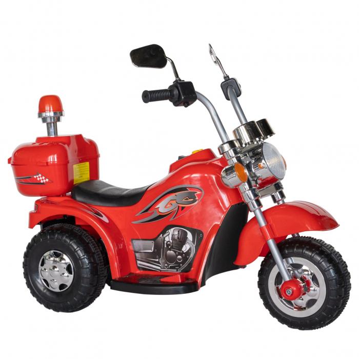 Motocicleta electrica copii Rich Baby cu acumulator, muzica si lumini, culoare rosu [1]