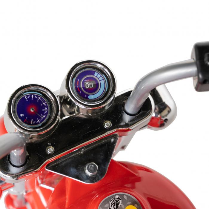 Motocicleta electrica copii Rich Baby cu acumulator, muzica si lumini, culoare rosu [7]