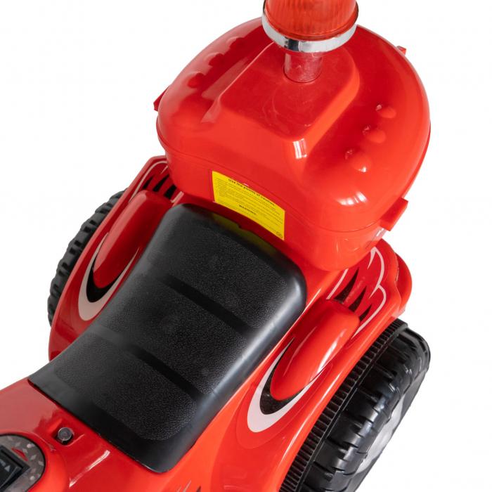 Motocicleta electrica copii Rich Baby cu acumulator, muzica si lumini, culoare rosu [8]