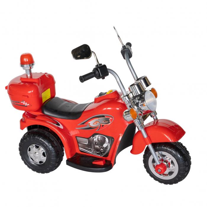 Motocicleta electrica copii Rich Baby cu acumulator, muzica si lumini, culoare rosu [0]
