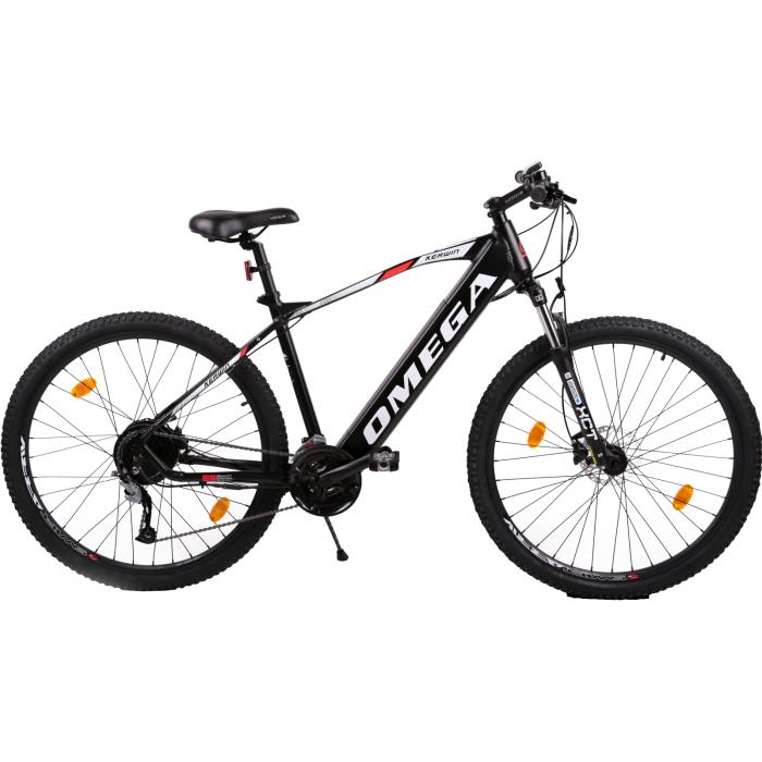 "Bicicleta electrica Omega Kerwin 29"" negru/portocaliu/alb [0]"