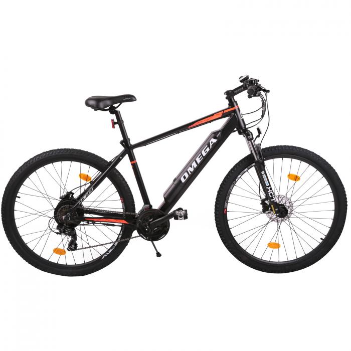 "Bicicleta electrica Omega Liohult 29"" negru/portocaliu/ alb [0]"