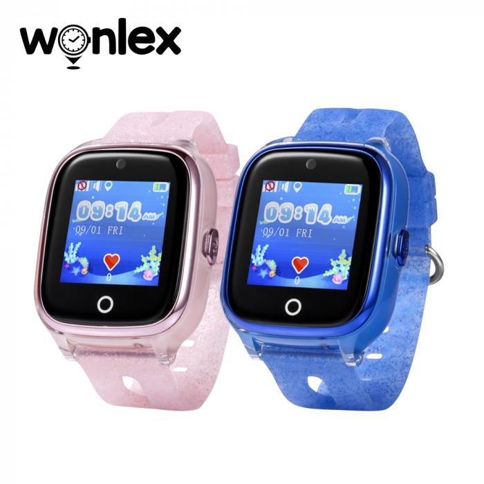 Pachet Promotional 2 Smartwatch-uri Pentru Copii Wonlex KT01 cu Functie Telefon, Localizare GPS, Camera, Pedometru, SOS, IP54, Roz + Albastru, Cartela SIM Cadou [0]