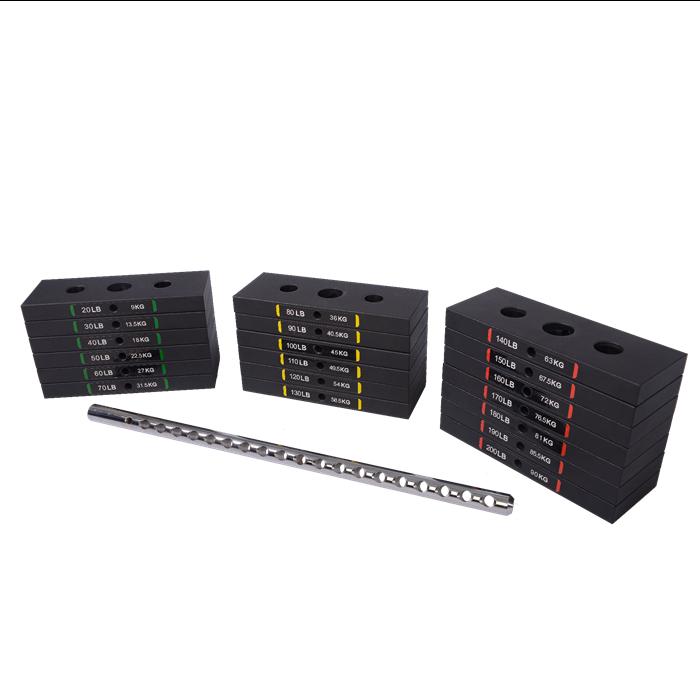 Set greutati tip stiva 90 kg pentru aparate Powertec [1]