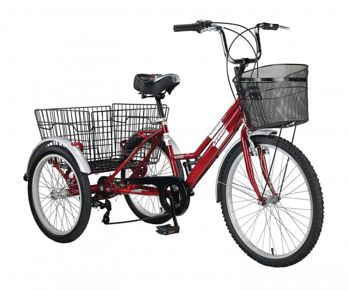 """Tricicleta Umit Cargo Transport , Roata 24"""" ,  Culoare Rosu, Otel [0]"""