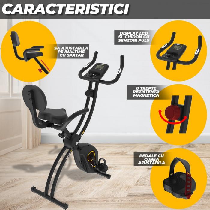 Bicicleta magnetica fitness pliabila Progressive XF100 [3]
