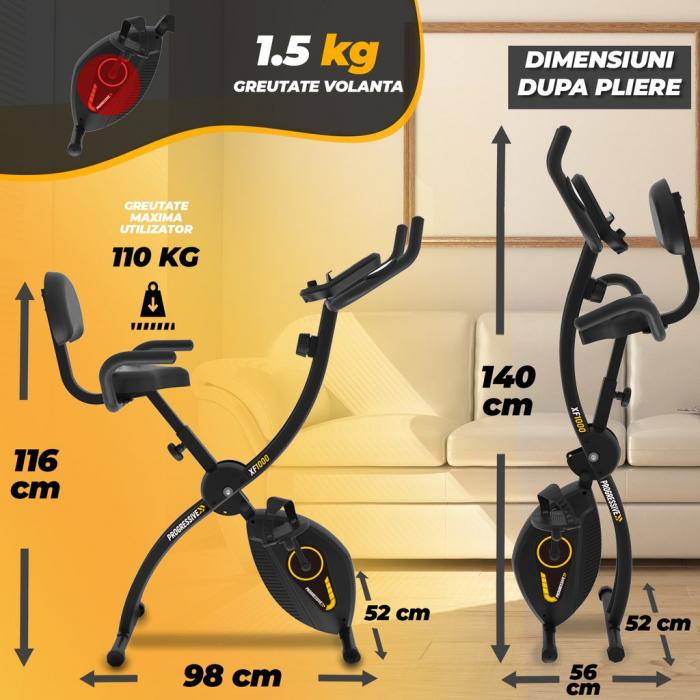 Bicicleta magnetica fitness pliabila Progressive XF100 [4]