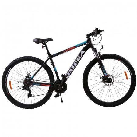 """Bicicleta mountainbike Omega Thomas 27.5"""", cadru 46cm, negru/portocaliu/alb [1]"""