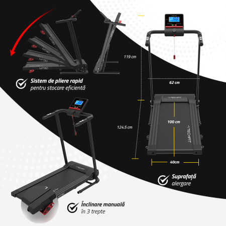 Banda de alergare electrica Techfit nou MT90N [3]