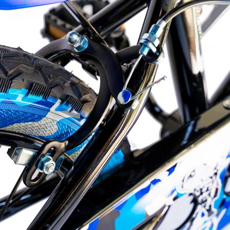 "Bicicleta baieti  RICH BABY R16WTA, roata 16"", roti ajutatoare cu LED, 4-6 ani, culoare negru/albastru    [5]"
