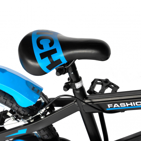 "Bicicleta baieti Rich Baby T2002C, roata 20"", C-Brake, roti ajutatoare, 7-10 ani,  negru/albastru [3]"